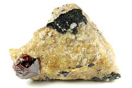 Zircon nestled in bedrock found in Gilgit Pakistan Stock Photo