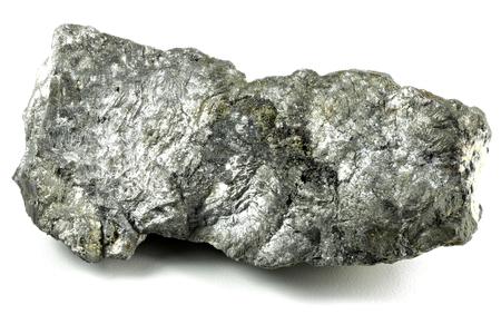 Gebürtiges Antimon von Arechuybo (Chihuahua / Mexiko) lokalisiert auf weißem Hintergrund Standard-Bild - 89993704