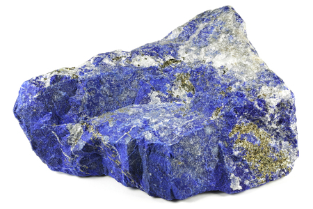 lapis lazuli from Afghanistan isolated on white background