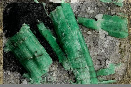 emeralds nestled in bedrock found in Hunan China
