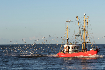 fishing vessel at sea Stock Photo
