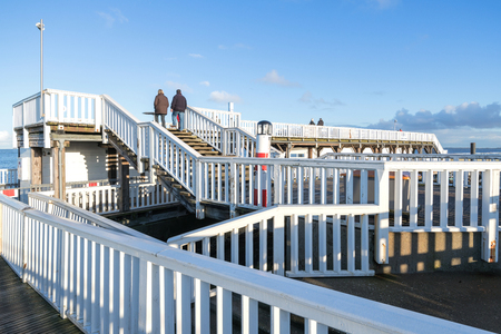 'Alte Liebe' (old love) - famous observation deck in Cuxhaven Germany at the river Elbe