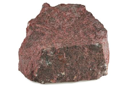 minerale di Merury cinabro isolato su priorità bassa bianca