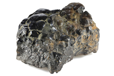 hematite from Morocco isolated on white background
