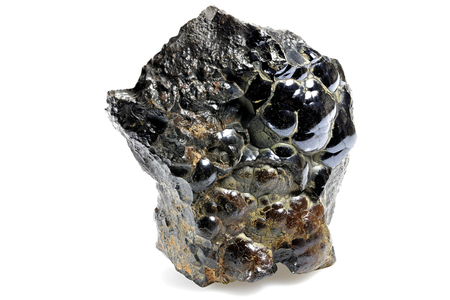 Hematite from Morocco isolated on white background 스톡 콘텐츠