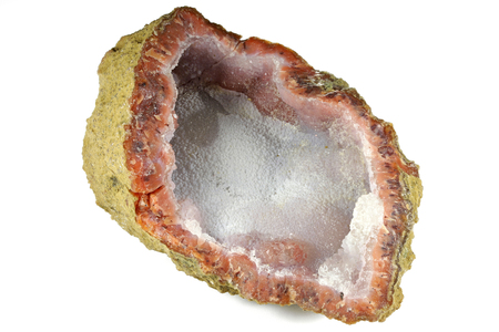 Chalcedony from Sidi Rahal Morocco isolated on white background Stock Photo
