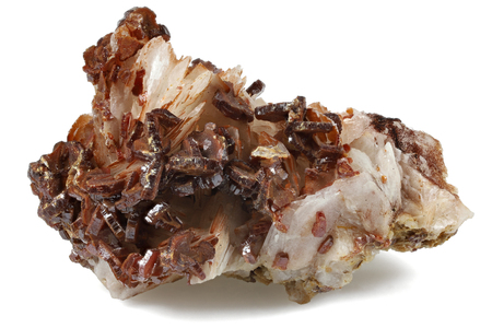 vanadinite from Mibladen Morocco isolated on white background