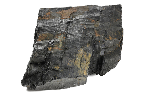 fat coal extracted from Saarland Germany isolated on white background