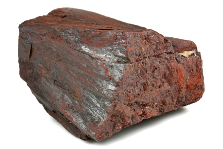 hematite (iron ore) from Morocco isolated on white background