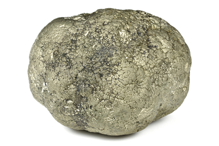 pyrite ball from Hohenems Austria isolated on white background Stock Photo