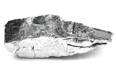 99.9% fine chromium isolated on white background Stock Photo