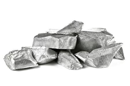 99.99% fine aluminum isolated on white background 免版税图像