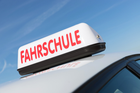 German driving school car roof sign (German road sign, no trademark)