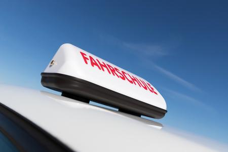 German driving school car roof sign (German road sign, no trademark)