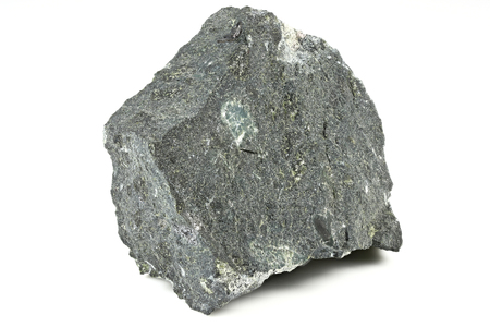 Kimberlite from South Africa isolated on white background Stock Photo
