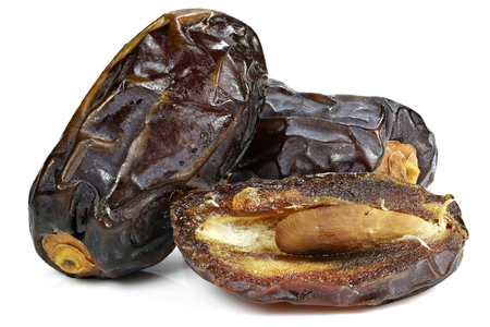organic Medjool dates from Israel isolated on white background Stock Photo
