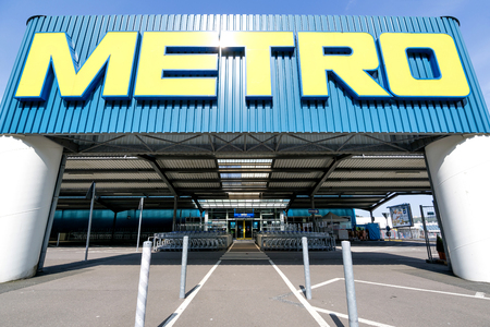 Entrance of a Metro cash & carry market. Metro cash & carry is the largest sales division of the German trade and retail giant Metro AG. Editorial