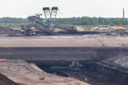 soft coal opencast mining in Lusatia, Germany Stock Photo