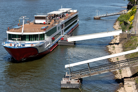 River cruise ship RHEIN MELODIE of Nicko Cruises. RHEIN MELODIE has a capacity of 198 passengers and is 132 m long. Editorial
