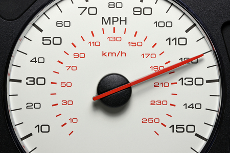 speedometer at 120 MPH