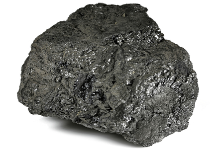 lignite from Bergheim/ Germany isolated on white background Standard-Bild
