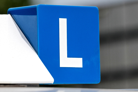 Dutch driving school car roof sign Stockfoto