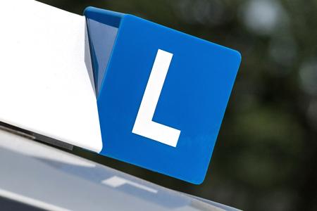 Dutch driving school car roof sign Stockfoto