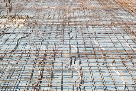 steel reinforcement of a base plate