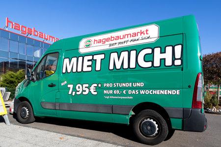 Hagebaumarkt rental van at store. Hagebaumarkt is a German DIY-store chain offering home improvement and do-it-yourself goods.