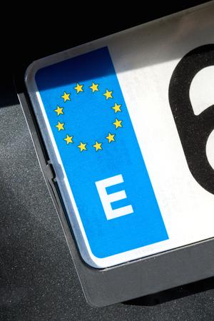 country identifier of EU car registration plate: Spain