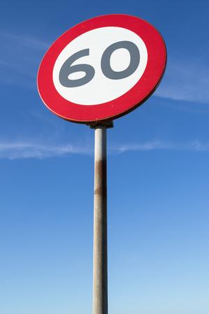Dutch road sign: speed limit 60 kmh