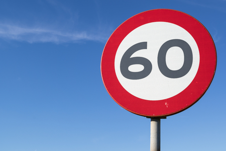 Dutch road sign: speed limit 60 kmh