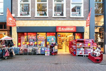 Kruidvat branch. Kruidvat is a Dutch retail, pharmacy and drugstore chain specialised in health and beauty products, which also has branches in Belgium.