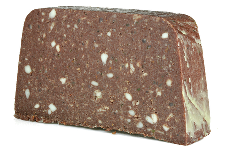 German Panhas (scrapple) isolated on white background