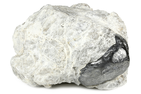 Apache tear (obsidian) from the USA isolated on white background