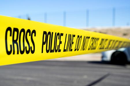 police line at crime scene