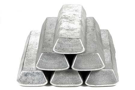 aluminum bars isolated on white background Standard-Bild - 120545319