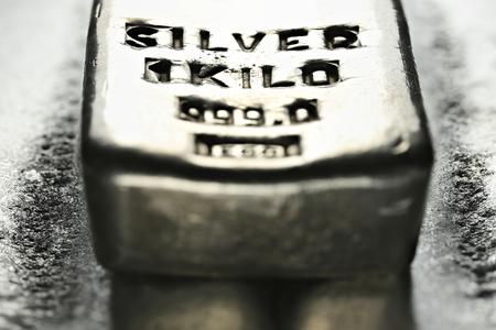 1 kilo 999 fine silver bar Reklamní fotografie