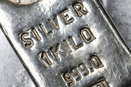 1 kilo 999 fine silver bar Stock Photo