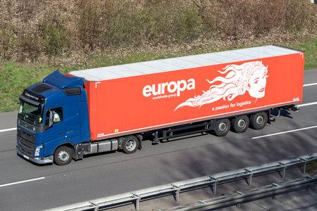 europa truck on German motorway. Stock Photo - 129745169
