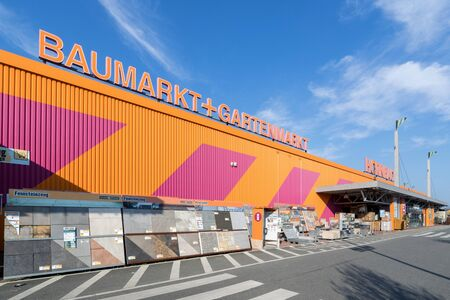 Hornbach hardware store in Bremen, Germany. Hornbach is a German DIY-store chain offering home improvement and do-it-yourself goods.