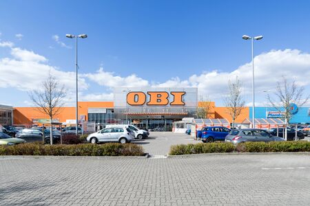 OBI store in Norderstedt, Germany. OBI is a German home improvement supplies retailing company. It is the largest DIY retailer in Europe, and the third largest in the world. Editorial