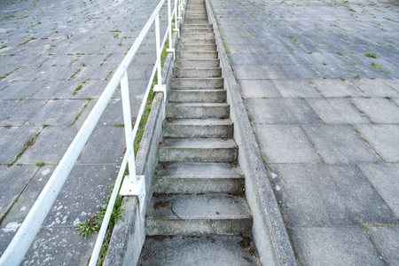 open air concrete stairs going upwards