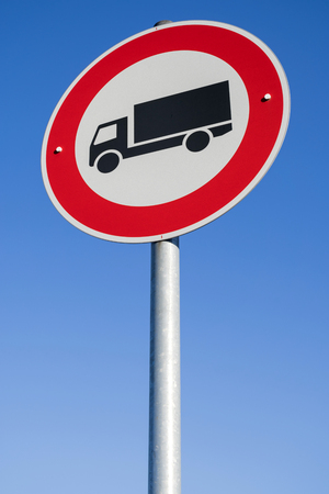 German road sign: no trucks permitted