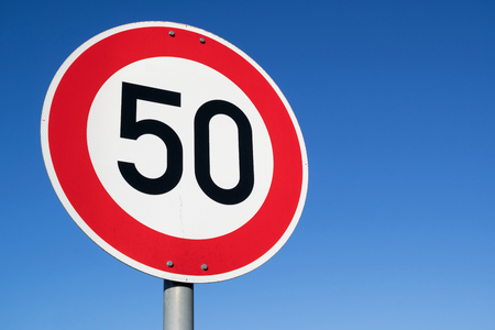 German road sign: speed limit 50 kmh