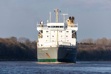 SAL heavy lift ship ANNE-SOFIE in the Kiel Canal. SAL Heavy Lift is one of the world's leading carriers specialised in sea transport of heavy lift and project cargo.