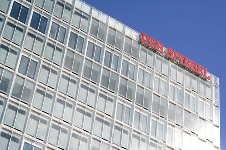 Der Spiegel headquarters. Der Spiegel is a German weekly news magazine. With a weekly circulation of 840,000 copies, it is the largest such publication in Europe.