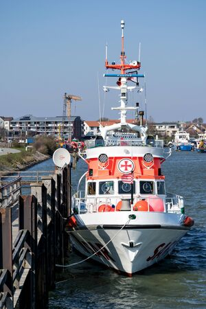 DGzRS SAR cruiser NIS RANDERS. The DGzRS is responsible for Search and Rescue in German territorial waters in the North Sea and the Baltic Sea.