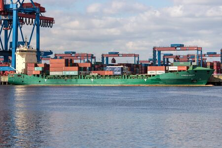 X-PRESS AGILITY at the HHLA Container Terminal Altenwerder (CTA), Hamburg, Germany
