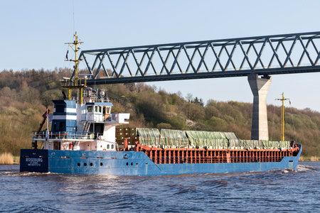 general cargo ship ROSEBURG in the Kiel Canal